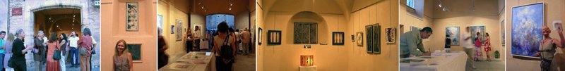 exposition à la chapelle des pénitents blancs, Gordes (84).