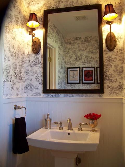 Foyer Window Leak : Remodelaholic powder room remodel