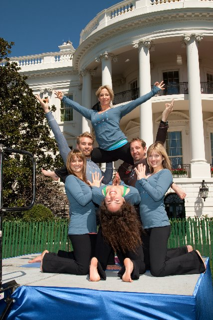 Zuda Yoga instructors at the White House (photo from Zuda Yoga blog)