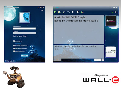 Wall-E Skin for Windows Live Messenger 8.1, 8.5 & 9.0 beta 1