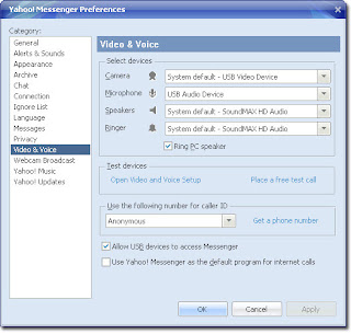 How to Set Up Voice and Video in Yahoo! Messenger 10