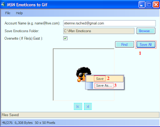 MSN Emoticons To Gif Screenshot