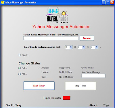 Yahoo Messenger Automater - Schedule Different Status Messages