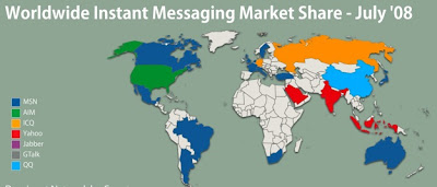 Instant Messaging Map of the World