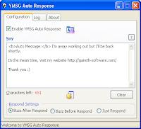 YMSG Auto Response
