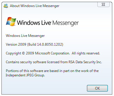 Download Windows Live Messenger 9 RC Build 1202 (Build 14.0.8050.1202)