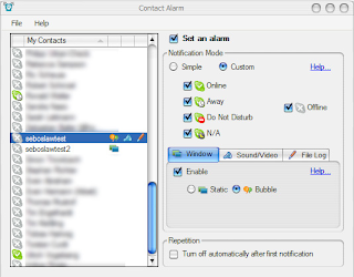 Set Status Notifications for your Skype Contacts- Contact Alarm