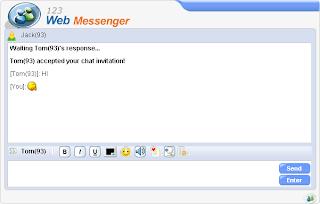 123 Web Messenger Screenshot