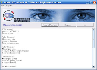 SpotIM - Password Recovery for ICQ, Miranda and Trillian