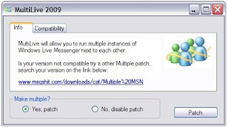 Run Multiple Instances Windows Live Messenger 2009 - Multilive