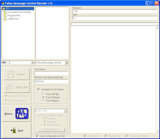 C.A.M.S. Works Yahoo Messenger Archive Decoder  Screenshot