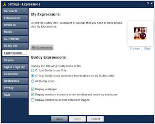 AIM Expressions Panel