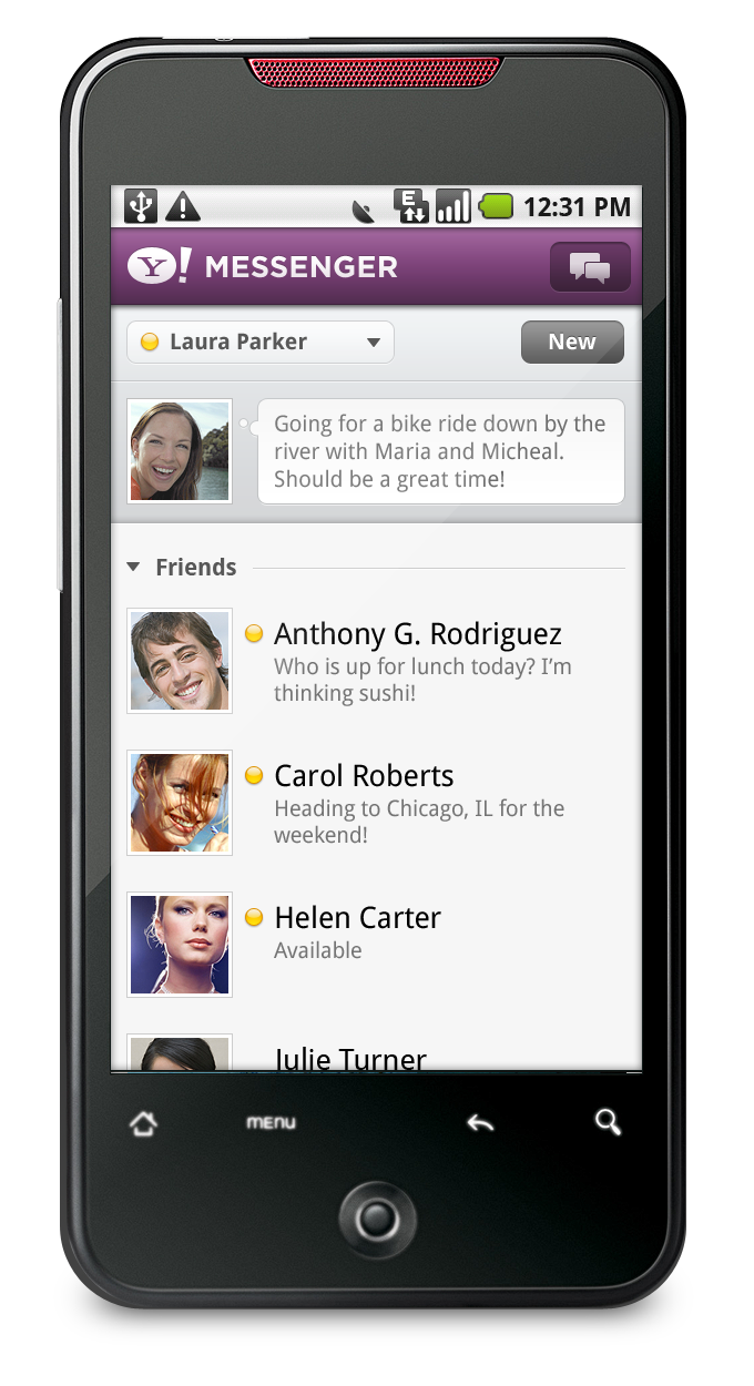 Phone Messenger For Android Phone yahoo messenger for android now available available