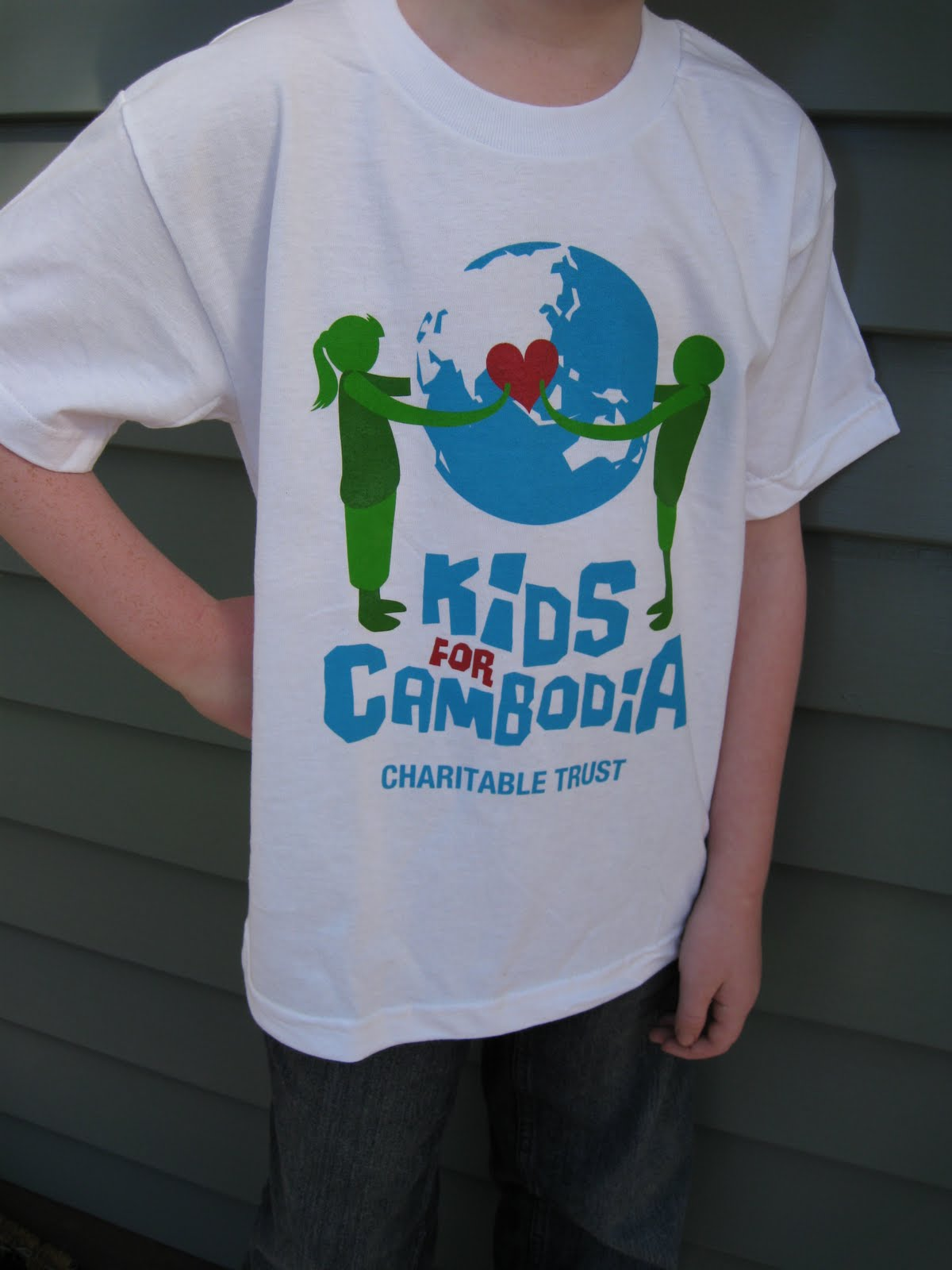 Kids for cambodia charitable trust our charity t shirts for Charity printed t shirt