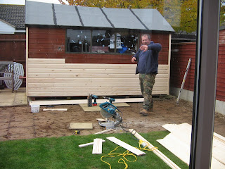 re-cladding the shed