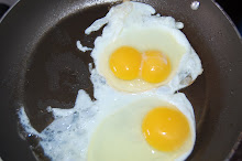 A dogs face or just eggs
