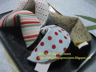 Fabric Fortune cookies by Ida Chan Stampin' Up! Vancouver