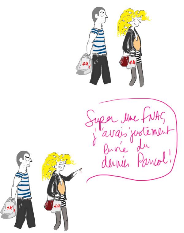 achat mode H&M, Ikea décoration maison, Fnac musique, AgnèsB, Sephora