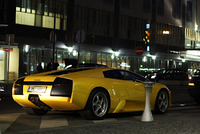 Yellow Lamborghini at V Celnici street