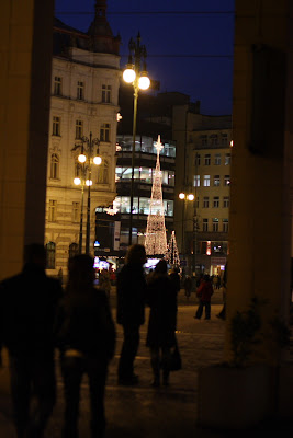Christmas tree on Kotva store