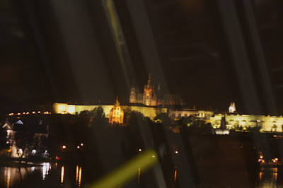 Prague Castle from a tram