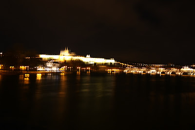 Blurred Prague Castle