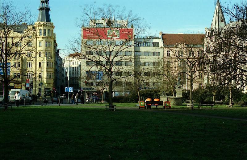 Sun in Prague in December