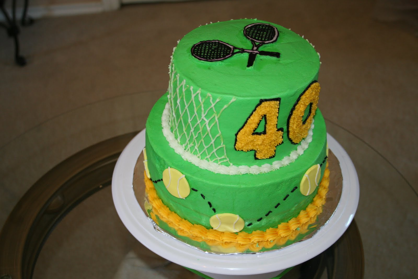 Rachels Creative Cakes 40th birthday Tennis Cake