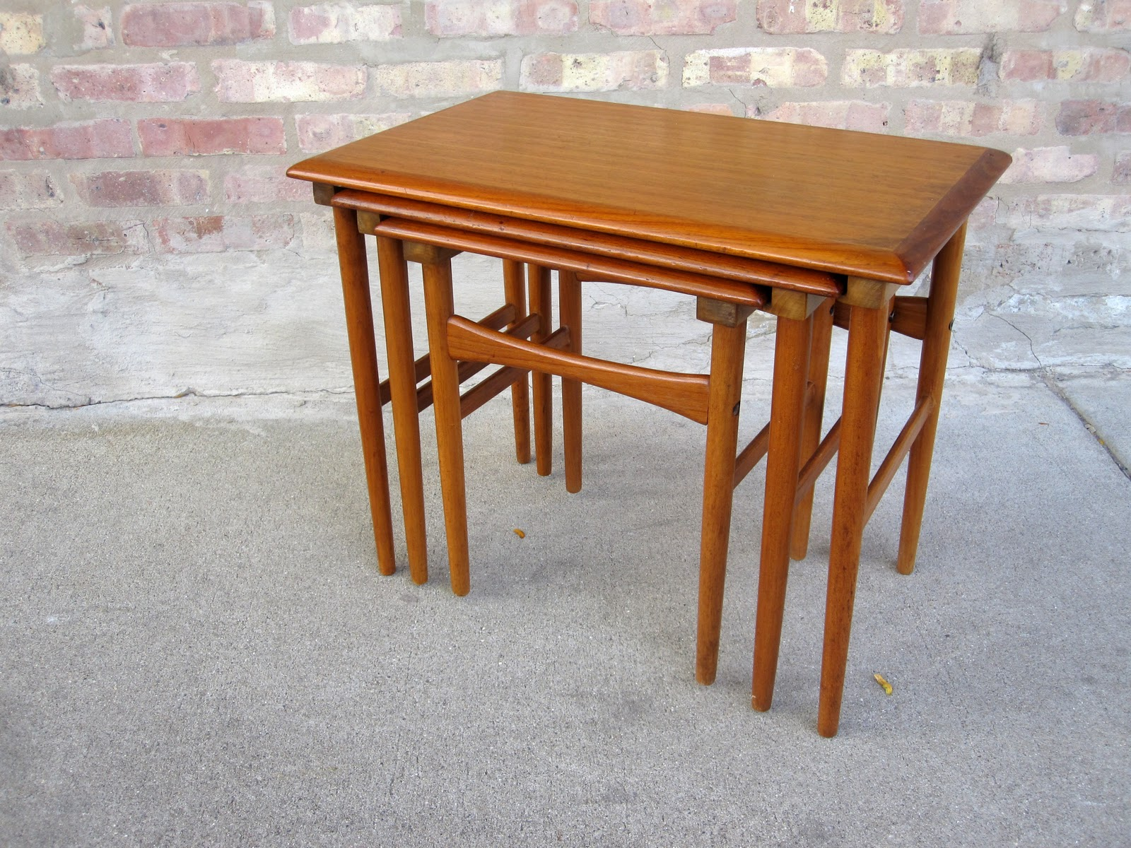 Teak Nesting Tables ~ Circa midcentury danish modern teak nesting tables