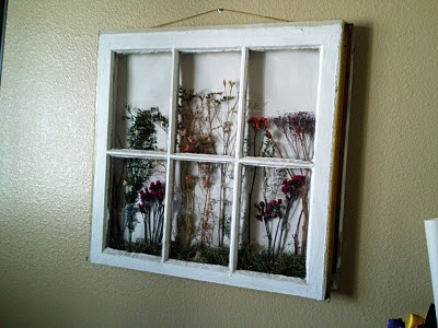 ve always wanted to make one of these windows that has dried flowers