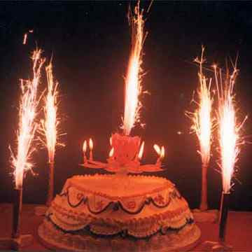 picture of birthday cake with lots of candles