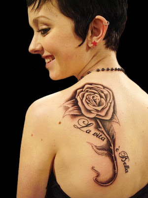 Sexy Girl Tattoo japanese flower tattoos