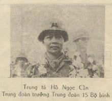 Trung tá Hồ Ngọc Cẩn, Trung đoàn trưởng Trung đoàn 15 Bộ Binh