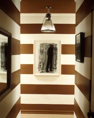 Papier Peint Rayure Beige - Papier peint beige Au Fil des Couleurs