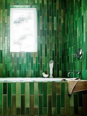 salle de bain vert fonce - Carrelage Vert Salle De Bain
