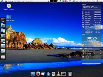 Pinguy OS Desktop
