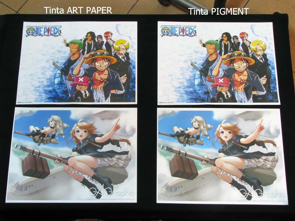 Hasil Print Tinta Art Paper dan Tinta Pigmen