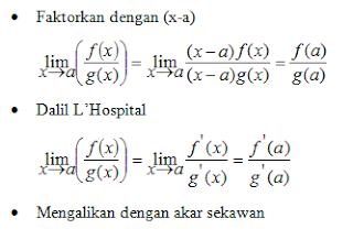 Cara Mudah Belajar Matematika Limit Fungsi