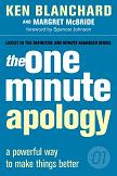 One Minute Apology - Book Cover