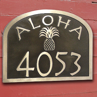 Aloha Address Plaque