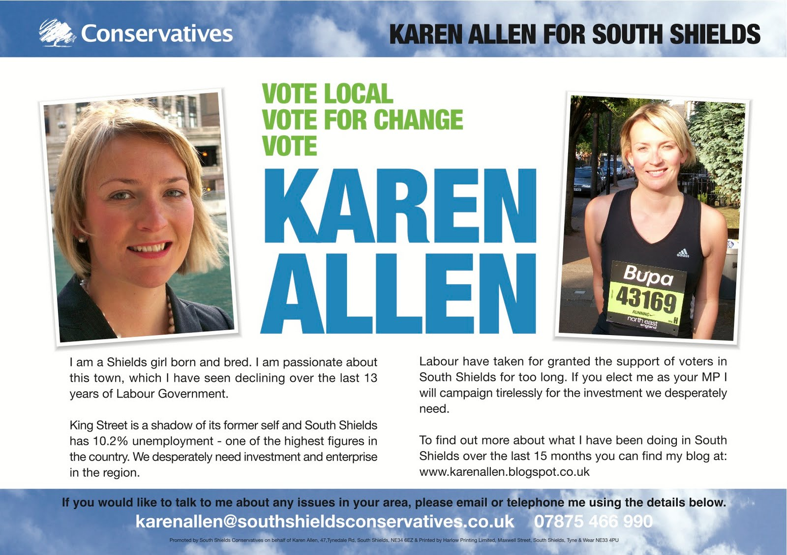 how to write an election leaflet
