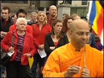 Glasgow Sama Yatra-Peace Walk for Burma Ocober 2007