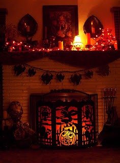 Halloween Ideas for fireplace