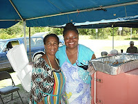 Linda McDowell, church treasurer, and Valerie Washington, church volunteer
