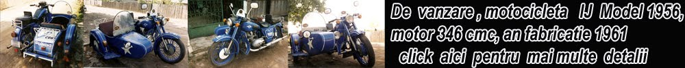 Vand Motocicleta cu Atas IJ Model 1956