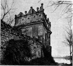 Старое фото замка в Староконстантинове