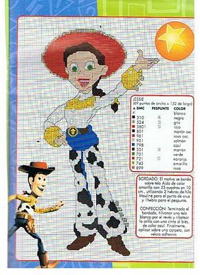 Punto De Cruz Toy Story Patrones Gratis