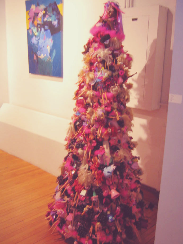 you + me: barbie christmas tree