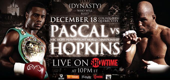 bernard hopkins vs jean pascal. champion Jean Pascal (26-1