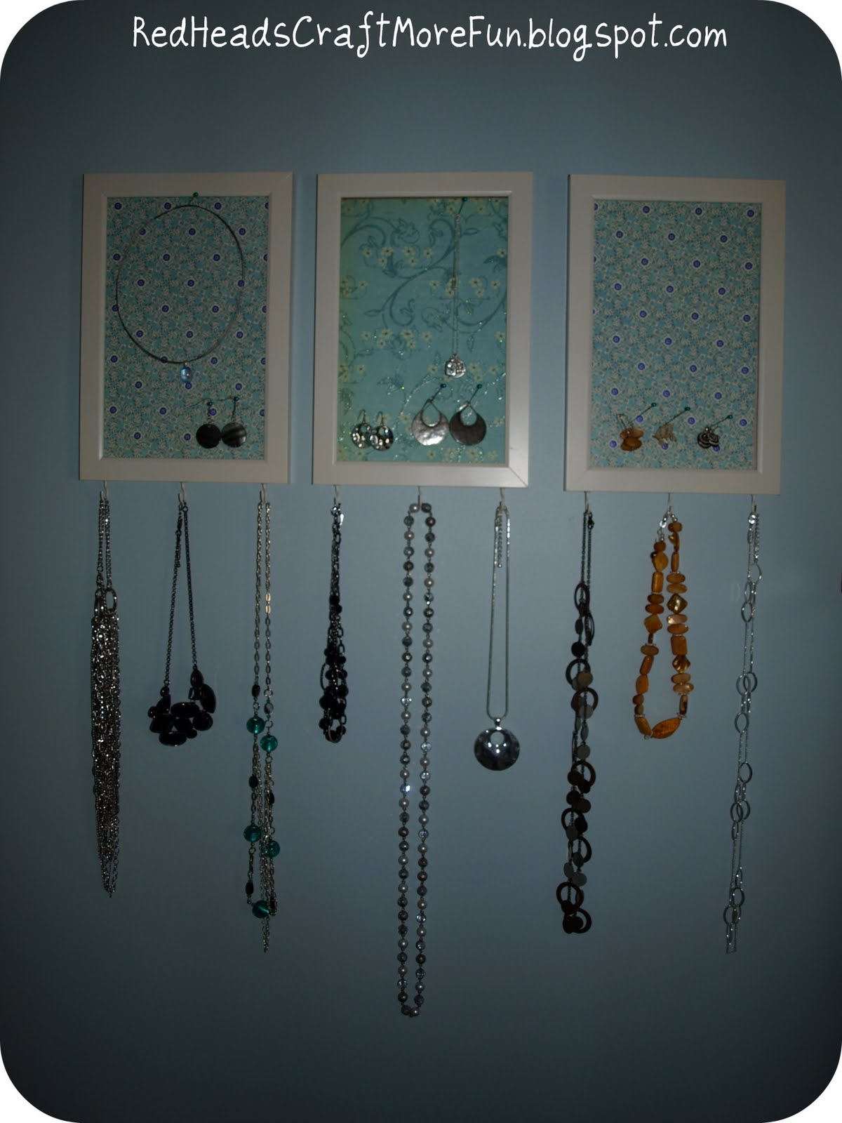 Red heads craft more fun dollar tree jewelry organizer for Dollar jewelry and more